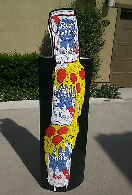 PABST BLUE RIBBON BEER PIZZA 6'ft STAND UP DISPLAY SIGN NEW