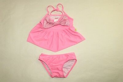 CIRCO Toddler Girl's Solid Color 2 Piece Tankini Swimsuit Set - PINK - 2T