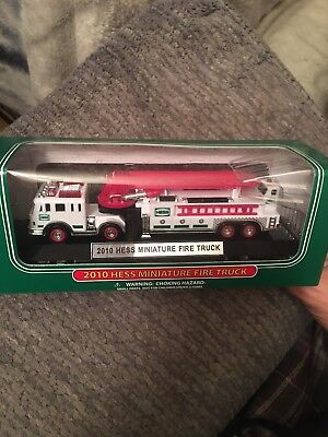 2010 HESS Miniature Fire Truck, New in Mint Condition, Never Opened