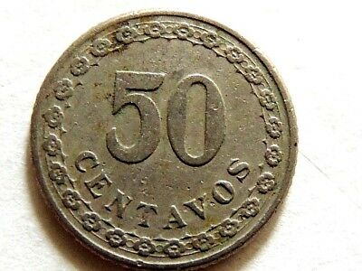 1925 Paraguay Fifty Centavos Coin