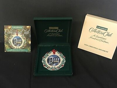 Longaberger Hometown Christmas 1997 Ornament Collectors Club Caroling in Dresden