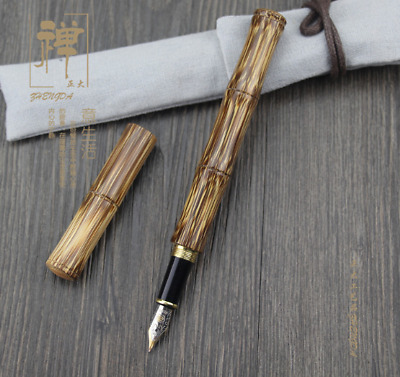 Handmade Fountain Pen Nature Bamboo Pen Hero Fine Nib Converter Pen