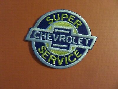 CHEVROLET AUTOMOTIVE bLUE & YELLOW Embroidered 3 x 3 Iron On Patch