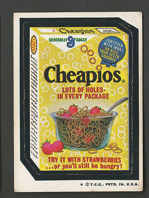 Lot 1124: 1974 Topps Original Wacky Packages 4th Series 4 CHEAPEOS Tan back