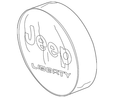 2002 2007 Jeep Liberty Anti Theft Tire Cover Black Mopar Genuine Oem