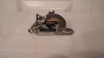 "Cat Picture Frame  Made Of Pewter,  3"" X 1 14"""