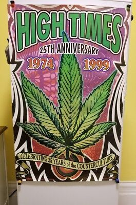 High Times Magazine 25th Anniversary Poster 1974-1999