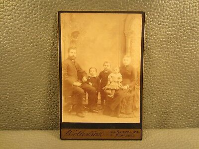 Victorian Antique Cabinet Card Photo of a Family