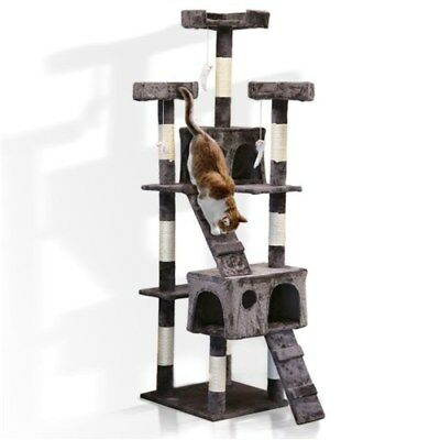 1.7M Giant Cat Tree Scratching Post Gym House Condo Furniture Scratcher Toy Play