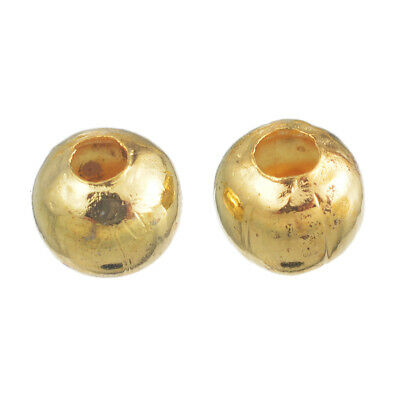500Pcs Gold Smooth Ball Spacer Beads 4Mm In Dia. N5X9