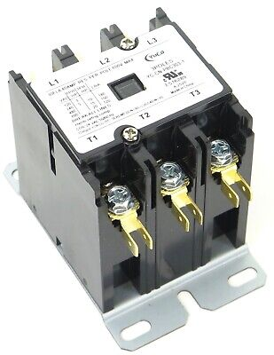 New Definite Purpose Contactor 2 Pole 40/50Amp CN-PBC402-24V coil