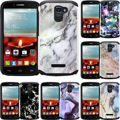 best service 65de4 296cf ALCATEL FIERCE 2 Case 7040T OneTouch Pop Icon A564C Marble Design Phone  Cover