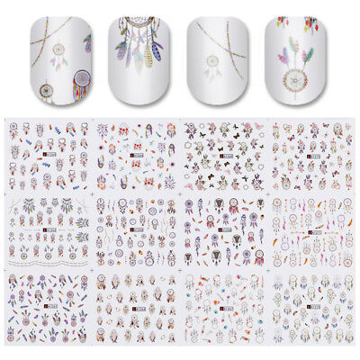 12Patterns Nail Art Water Decals Dreamcatcher Transfer Stickers Manicure Decors