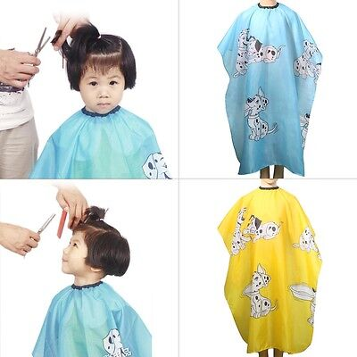 Kids Dog Dressing Cape Salon Gown Cover Barber Hair Cut Cloth Hairdresser Blue