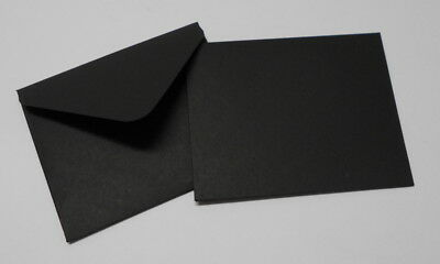 HANDMADE  BLACK  MINI  ENVELOPES - Pack of 10  - 100mm x 80mm - Cards/Gift Cards