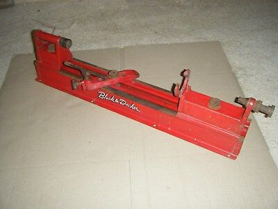 Vintage old tool BLACK & DECKER wood lathe for drill.