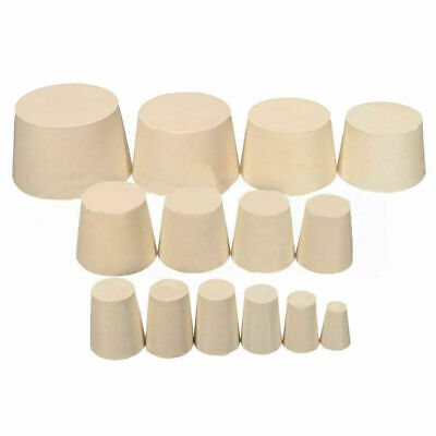 Rubber Stopper Bottle Tapered Hole Bung Water Pipe Plug Lab test Tube Seal Plugs