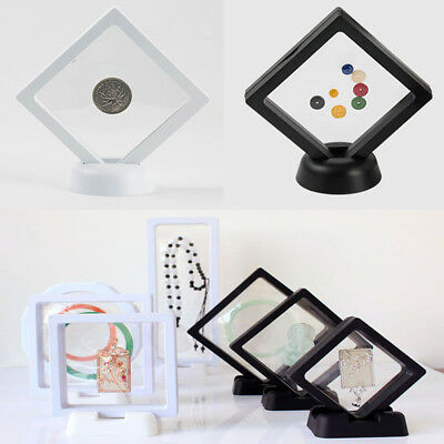 3D Albums Floating Frame Holder Shadow Box Coins Ring Jewelry Display Case New