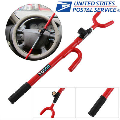 Universal Anti-Theft Car Steering Wheel Lock Security System Van Car SUV Truck