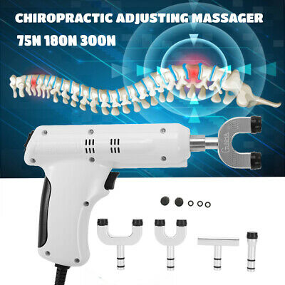 110-220V Professional Chiropractic Electric Spine Adjusting Corrector+4 Head MH