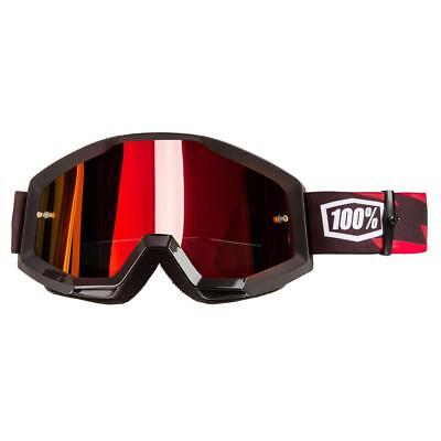 100% Crossbrille The Strata Slash - Rot verspiegelt Anti-Fog