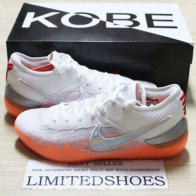 1936a64fbf45 NIKE KOBE AD NXT 360 INFRARED WHITE BLACK MANGO AQ1087-100 mamba day lakers
