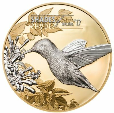 2017 Cook Island 25g Silver Coin Shades of Nature Hummingbird