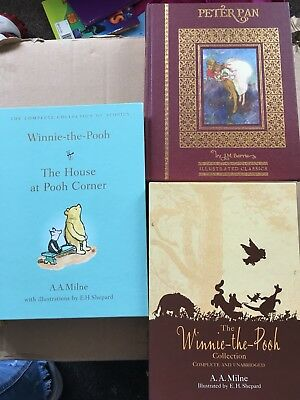 Winnie The Pooh Collection, The House at Pooh Corner and Peter Pan book bundle