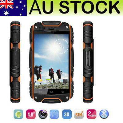 3G Outdoor Rugged Smart Phone Android Discovery V8 Unlocked Mobile Phone Orange