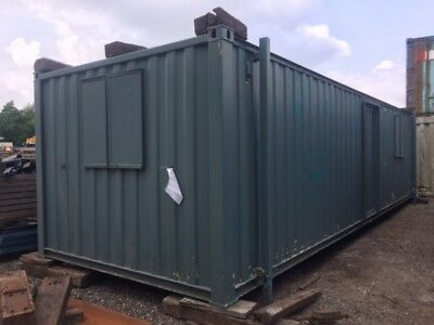 32 ft Long 10 ft Wide Grey Anti-vandal Office Unit Second Hand - Store