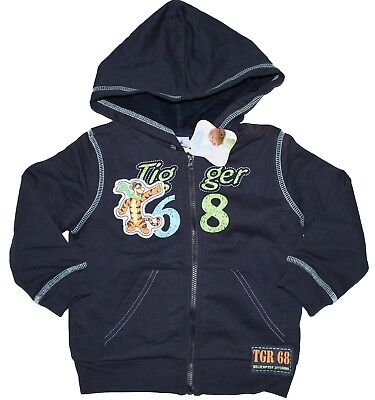 Size 2 - Disney Tigger Boys Fleece Jacket with Hoodie and long sleeves