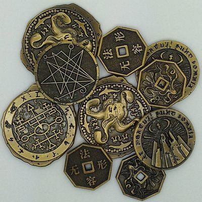 CALL OF CTHULHU: INNSMOUTH GOLD COIN 10-PACK Chaosium RPG Campaign Coins