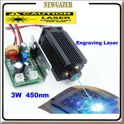 Focusable High Power 450nm 3.5W Blue Laser Module Carving/Burning Gift Goggles