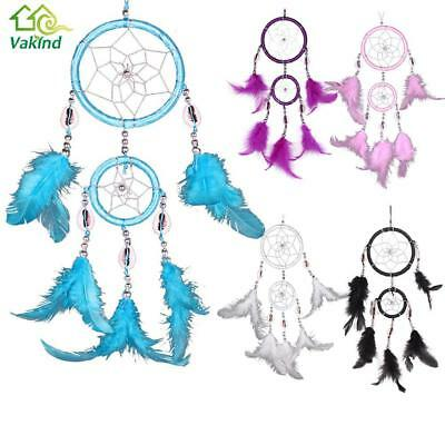 Dream Catcher Feathers Hanging Wall Decoration Ornament Handmade Car Decor Gift