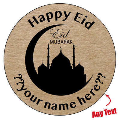 Eid mubarak personalised gloss stickers ramadan celebration muslim islam 965