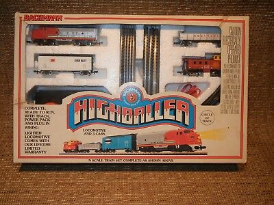 Vintage Bachmann Highballer N scale trainset. New