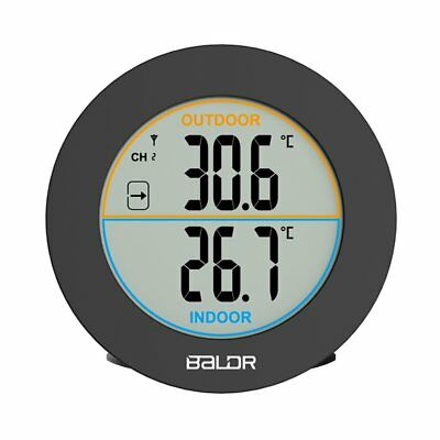 Baldr Round Wireless Thermometer LCD Digital Wall Temperature Meter AU