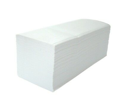 White 2 Ply Paper Hand Towels V Fold Interleaved Eco friendly Recycled Business
