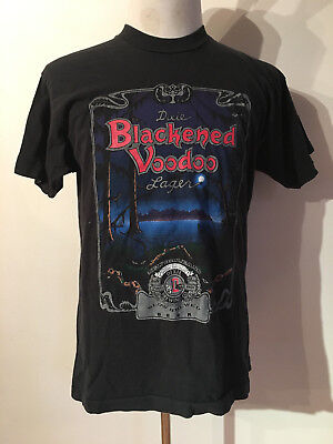 VINTAGE 1990's DIXIE BLACKENED VOODOO LAGER T-SHIRT MEN'S MEDIUM MADE IN USA