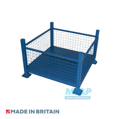 Metal/Steel Stillage (Pallet) with Mesh Sides - Made in the UK