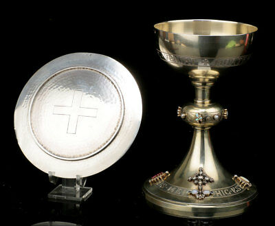 Antique Solid Silver Chalice by Armand Caillat Fils. Lyon, France, Circa 1910