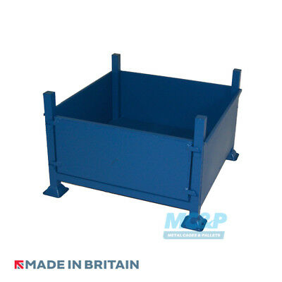 Metal/Steel Stillage with Solid Sides and Detachable Front - Made in the UK