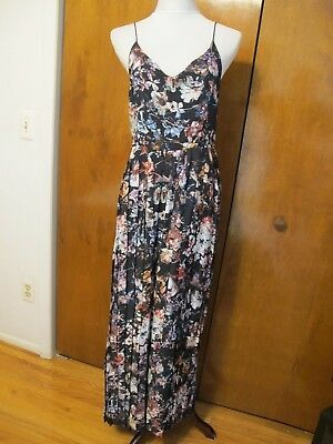 93a1b27e4b9 Anthropologie Ranna Gill Multicolor Evening Pleated Lined Jumpsuit size 8  NWT