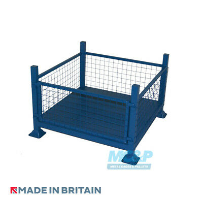 Metal/Steel Stillage with Mesh Sides and Detachable Front - Made in the UK