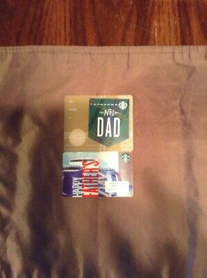 Starbucks 2018 Fathers Day Gift Card Lot Of 2 New - Customer Appreciation Month