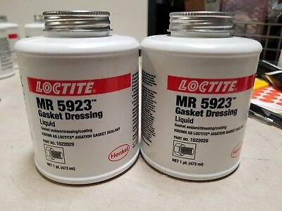 Lot of 2 New Loctite Aviation Gasket Sealant [BROWN] 1522029