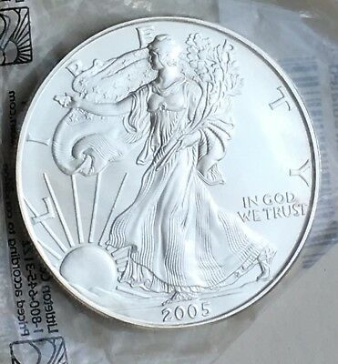 2005 American Silver Eagle .999 1 oz Coin US $1 Dollar Brilliant Uncirculated