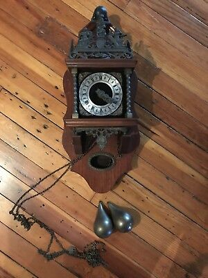 Zaanse Dutch Wall Clock Vintage Warmink FLAW