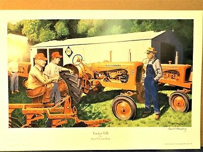 """Sonnenberg Print """"tractor Talk"""" -  Allis Chalmers Wd 45 Tractors - Print Only"""