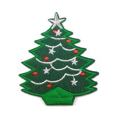 Buddly Crafts Christmas Iron On Embroidered Applique Patch